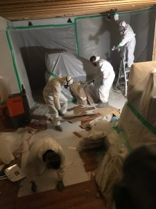 Water Damage and Mold Removal in a Home After a Storm